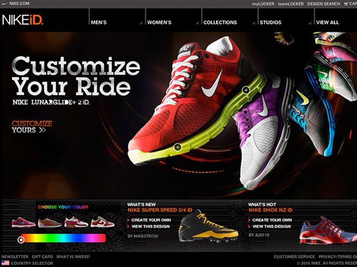 Personalização de Tênis no site da Nike - Alternativa Sistemas