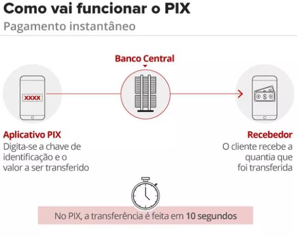 Infografico Esquema PIx Brasil